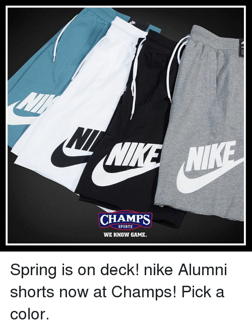 promo code 5ec89 21131 Memes, Nike, and Sports  CHAMPS SPORTS WE KNOW GAME. Spring is on