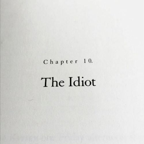 Idiot: Chapter 10  The Idiot
