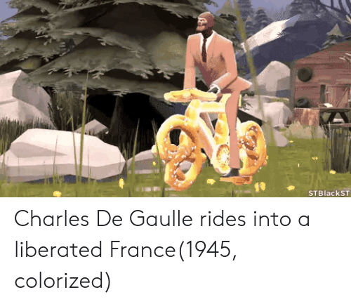 France, Charles De Gaulle, and Colorized: Charles De Gaulle rides into a liberated France(1945, colorized)