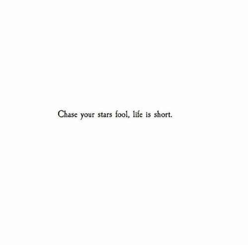 Chase, Stars, and Lite: Chase your stars fool,  lite is short.