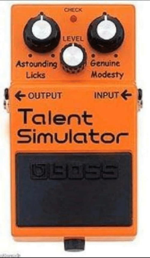 astounding: CHECK  LEVEL  Astounding  Genuine  Modesty  Licks  OUTPUT  INPUT E  Talent  Simulator
