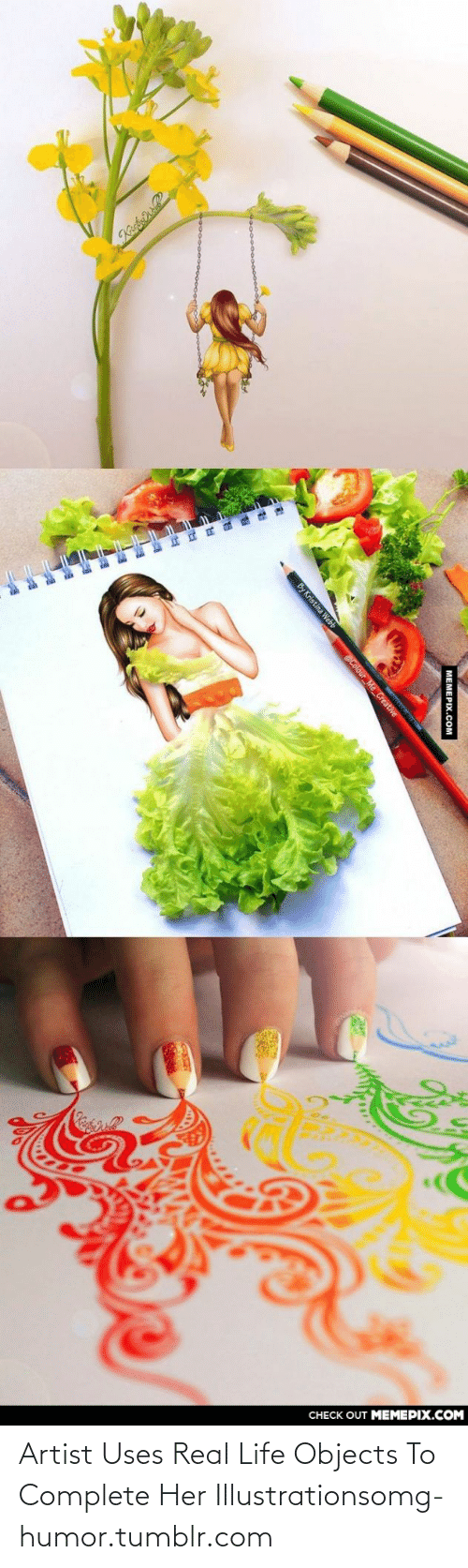 Webb: CHECK OUT MEMEPIX.COM  | МЕМЕРIХ.СOм  By Kristina Webb  @Colour Me_Creative Artist Uses Real Life Objects To Complete Her Illustrationsomg-humor.tumblr.com