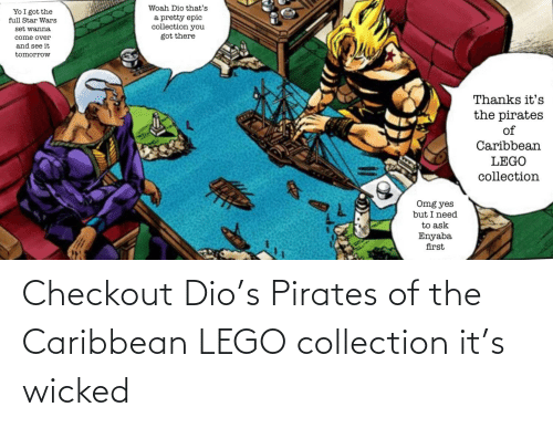 Wicked: Checkout Dio's Pirates of the Caribbean LEGO collection it's wicked