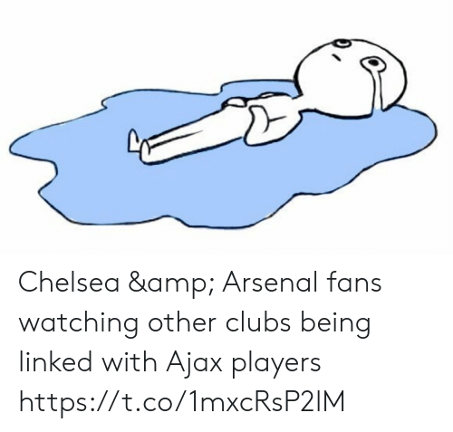 Linked: Chelsea & Arsenal fans watching other clubs being linked with Ajax players https://t.co/1mxcRsP2lM