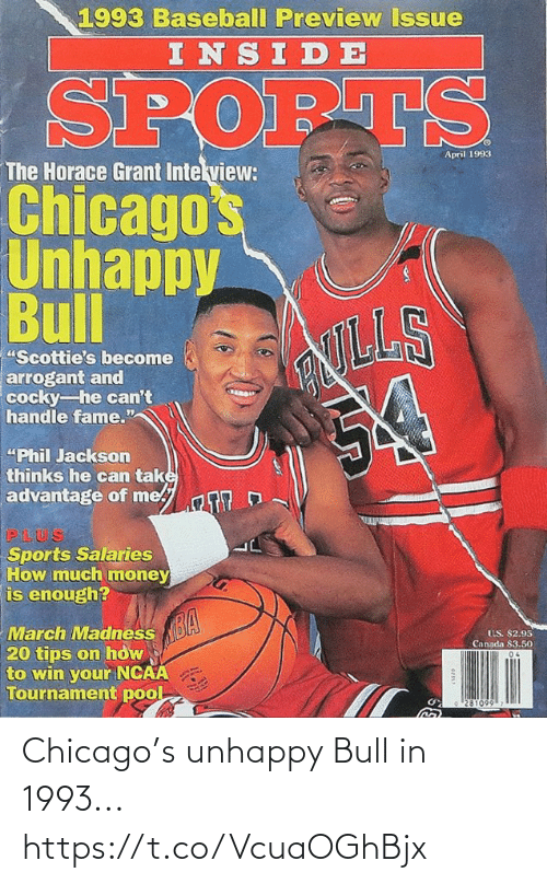 Chicago: Chicago's unhappy Bull in 1993... https://t.co/VcuaOGhBjx