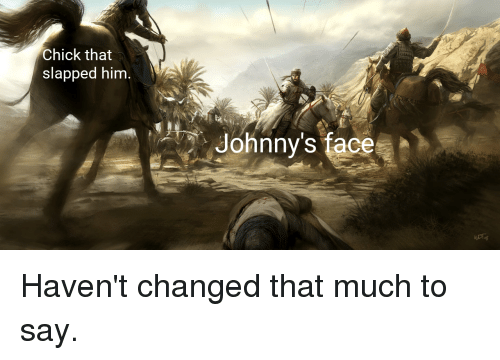 Dank Memes, Face, and Chick: Chick that  slapped hinm  Johnny's face (