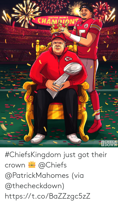 Chiefs: #ChiefsKingdom just got their crown 👑 @Chiefs @PatrickMahomes (via @thecheckdown) https://t.co/BaZZzgc5zZ