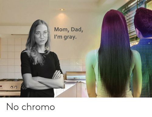 Dad, Mom, and Cho: CHO  Mom, Dad,  I'm gray. No chromo