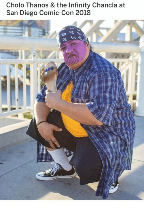 Cholo, Comic Con, and Infinity: Cholo Thanos & the Infinity Chancla at  San Diego Comic-Con 2018
