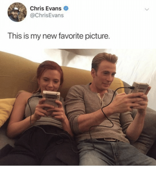 Chris Evans: Chris Evans  @ChrisEvans  This is my new favorite picture.