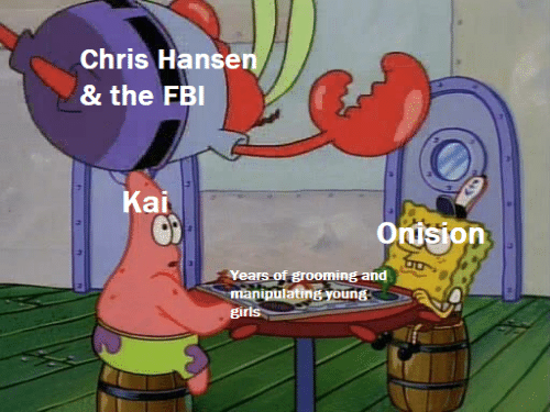 FBI: Chris Hansen  & the FBI  Kai  Orision  Years of grooming and  manipulating young  girls