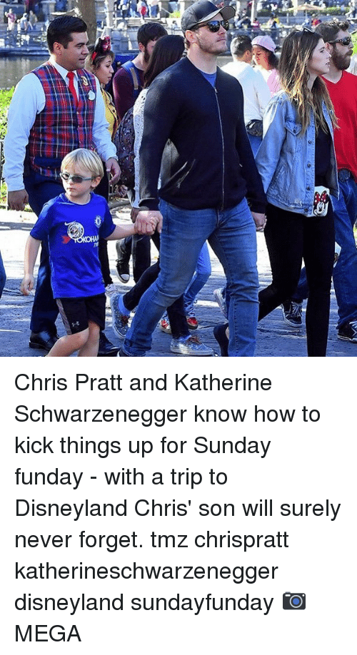 katherine: Chris Pratt and Katherine Schwarzenegger know how to kick things up for Sunday funday - with a trip to Disneyland Chris' son will surely never forget. tmz chrispratt katherineschwarzenegger disneyland sundayfunday 📷MEGA
