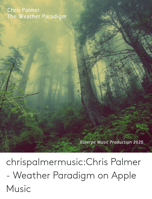 Chris: chrispalmermusic:Chris Palmer - Weather Paradigm on Apple Music