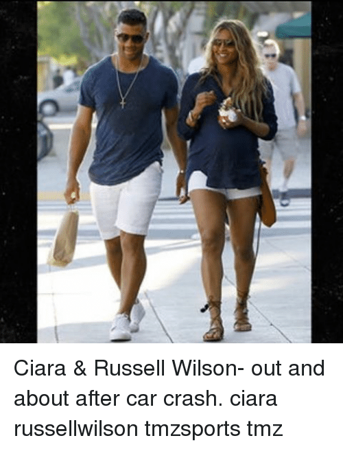 Car Crashing: Ciara & Russell Wilson- out and about after car crash. ciara russellwilson tmzsports tmz