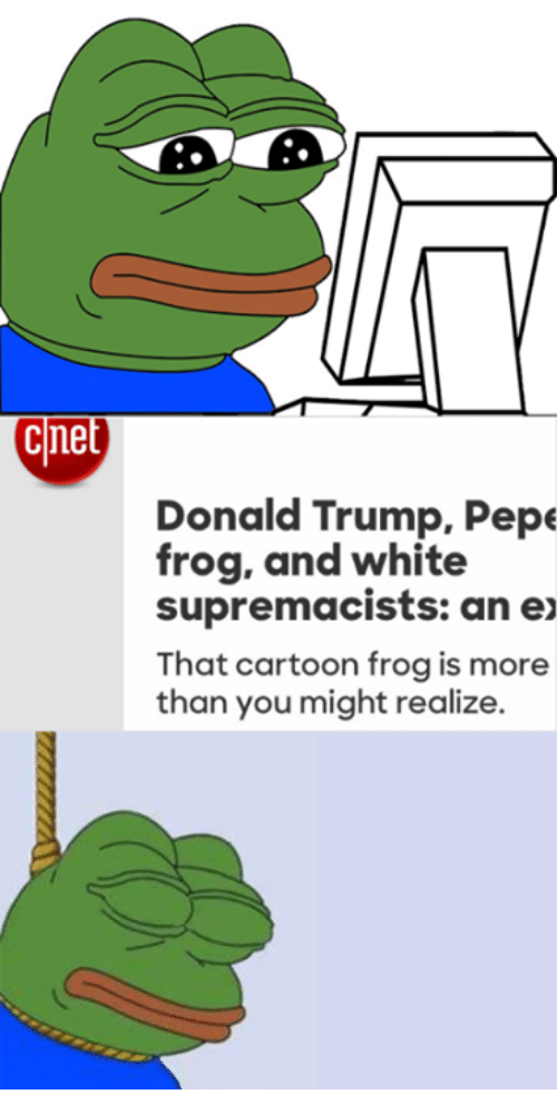 Dank Donald Trump And Exs Cine Pepe Frog White Supremacists An Ex That Cartoon Is More Than You Might Realize