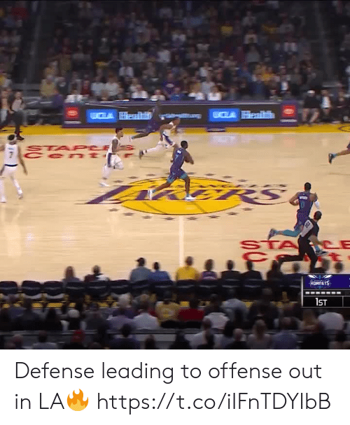 Leading: CLA Health  STA PCE  Cen t  fमी  HORNETS  1ST Defense leading to offense out in LA🔥 https://t.co/iIFnTDYIbB