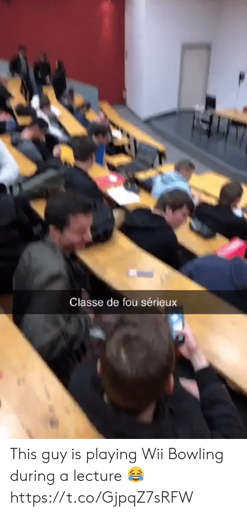 Bowling, Wii, and This: Classe de fou sérieux This guy is playing Wii Bowling during a lecture 😂 https://t.co/GjpqZ7sRFW