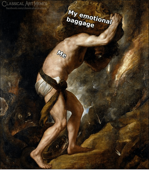 Facebook, facebook.com, and Classical Art: CLASSICAL ARTMEMES  facebook.com/classicalartm  My emotional  baggage