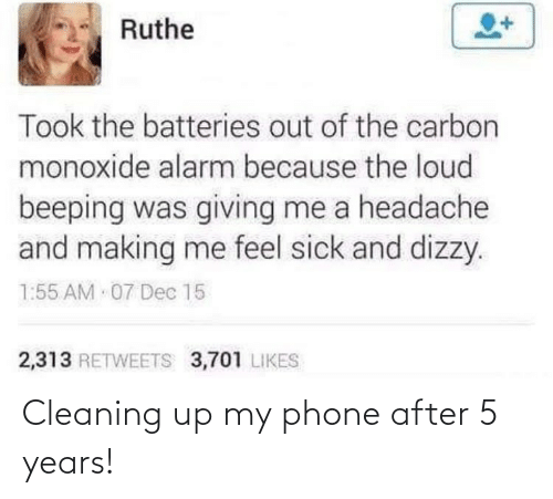 cleaning: Cleaning up my phone after 5 years!