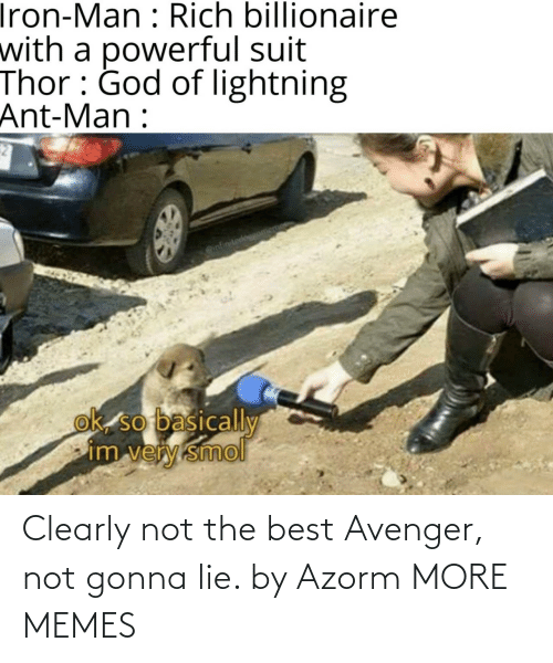 avenger: Clearly not the best Avenger, not gonna lie. by Azorm MORE MEMES