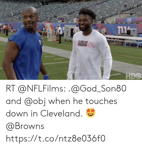 awwmemes.com: CLEVELAND  BROWNS RT @NFLFilms: .@God_Son80 and @obj when he touches down in Cleveland. 🤩  @Browns https://t.co/ntz8e036f0