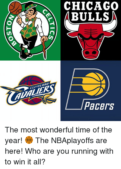 Chicago Bulls: CLEVELAND  CHICAGO  BULLS  Pacers The most wonderful time of the year! 🏀 The NBAplayoffs are here! Who are you running with to win it all?