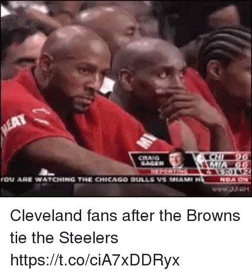 Football, Nfl, and Sports: Cleveland fans after the Browns tie the Steelers https://t.co/ciA7xDDRyx