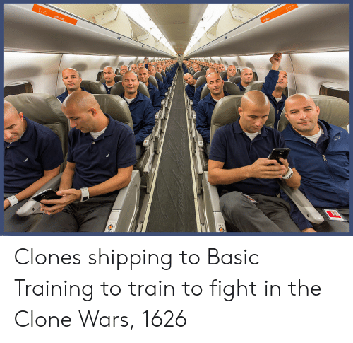 the clone wars: Clones shipping to Basic Training to train to fight in the Clone Wars, 1626