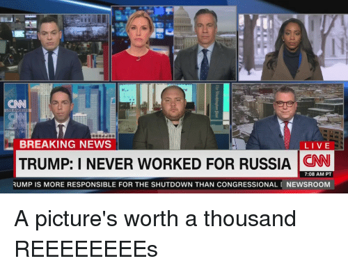 CNN BREAKING NEWS LIVE TRUMP I NEVER WORKED FOR RUSSIA N CNN