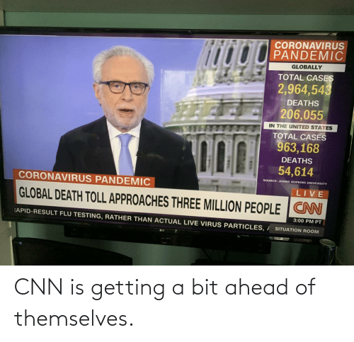 Ahead: CNN is getting a bit ahead of themselves.