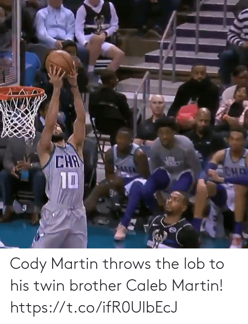 brother: Cody Martin throws the lob to his twin brother Caleb Martin!    https://t.co/ifR0UlbEcJ