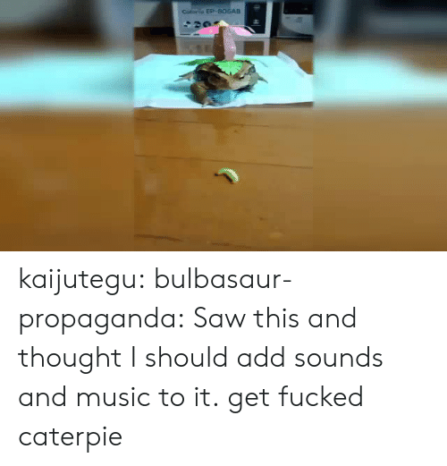 Bulbasaur, Music, and Saw: Coliorio EP-B06AB kaijutegu: bulbasaur-propaganda: Saw this and thought I should add sounds and music to it. get fucked caterpie