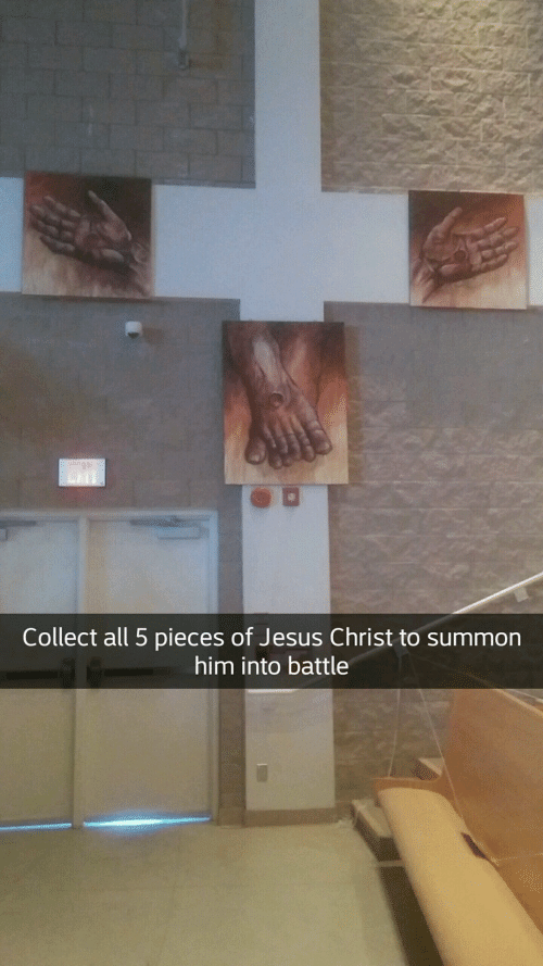 Jesus, Jesus Christ, and Him: Collect all 5 pieces of Jesus Christ to summon  him into battle