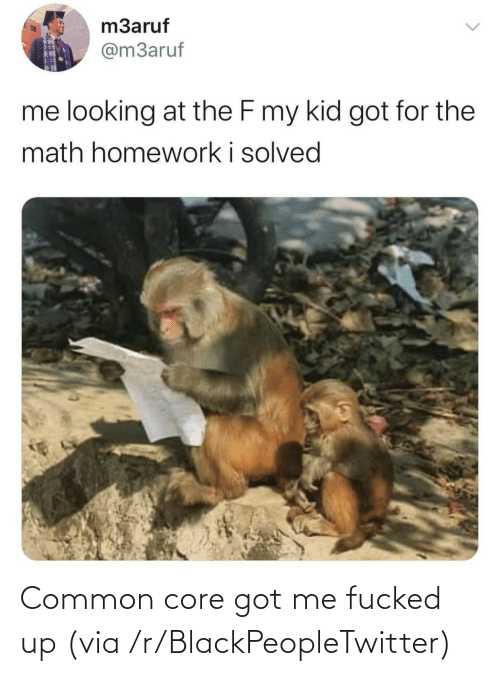 Fucked: Common core got me fucked up (via /r/BlackPeopleTwitter)