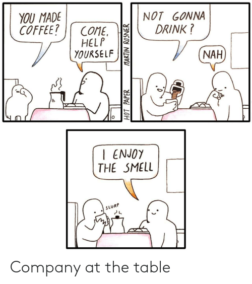 table: Company at the table