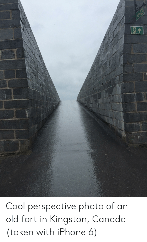 Iphone 6: Cool perspective photo of an old fort in Kingston, Canada (taken with iPhone 6)