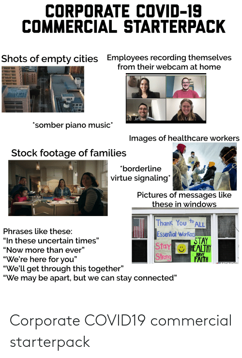 corporate: Corporate COVID19 commercial starterpack