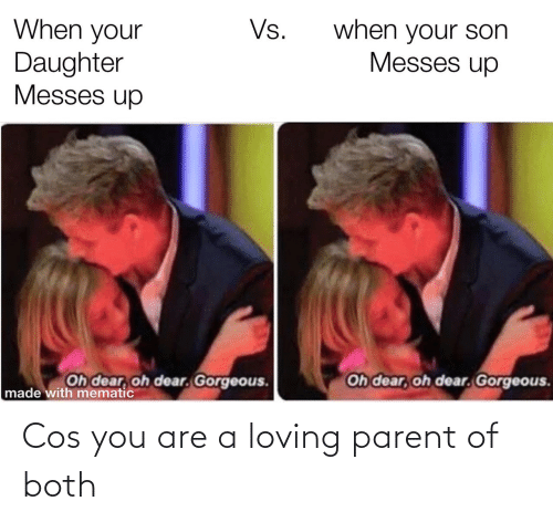 Loving: Cos you are a loving parent of both