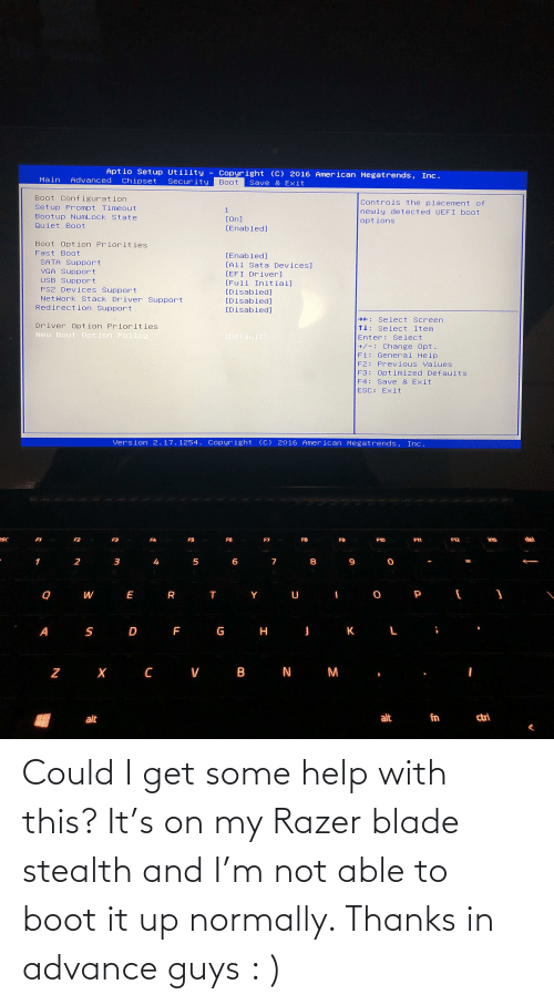 stealth: Could I get some help with this? It's on my Razer blade stealth and I'm not able to boot it up normally. Thanks in advance guys : )