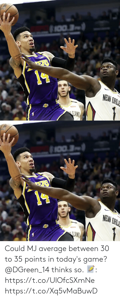 Todays: Could MJ average between 30 to 35 points in today's game?  @DGreen_14 thinks so.  📝: https://t.co/UlOfcSXmNe https://t.co/Xq5vMaBuwD