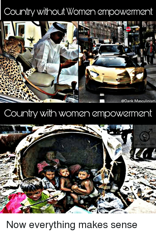 Masculinism: Country without Women empowerment  @Dank Masculinism  Country with women empowerment  DANK MASCULİNİSM