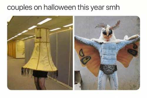 Halloween, Memes, and Smh: couples on halloween this year smh