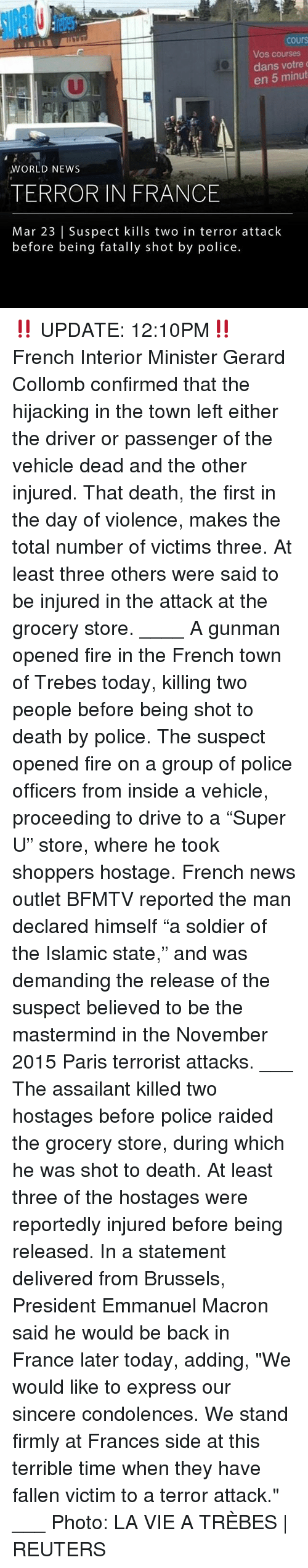 """Fire, Memes, and News: cours  Vos courses  dans votre  en 5 minut  WORLD NEWS  TERROR IN FRANCE  Mar 23 