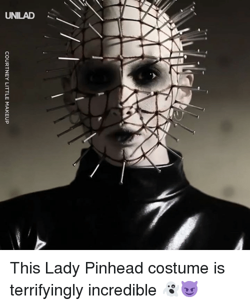 Dank, Makeup, and 🤖: COURTNEY LITTLE MAKEUP This Lady Pinhead costume is terrifyingly incredible 👻😈