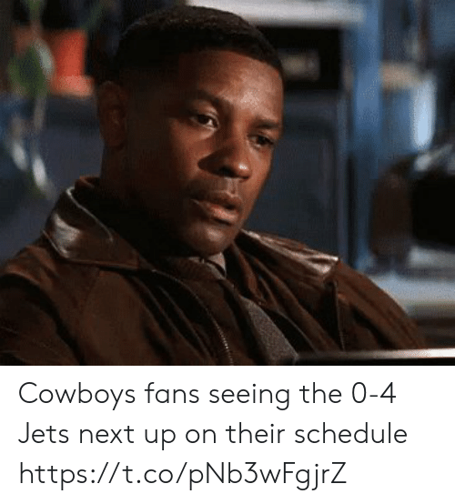 Schedule: Cowboys fans seeing the 0-4 Jets next up on their schedule https://t.co/pNb3wFgjrZ