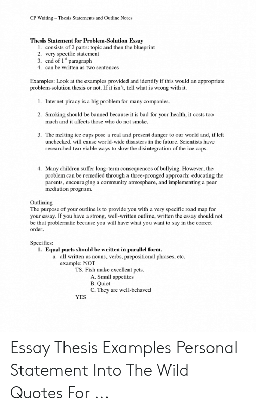 Critical Essay Thesis Statement  Business Law Essay Questions also Essay About Science And Technology Cp Writing Thesis Statements And Outline Notes Thesis  Science Fiction Essay Topics