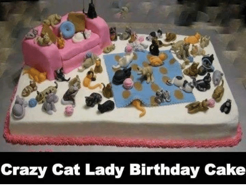crazy cats: Crazy Cat Lady Birthday Cake