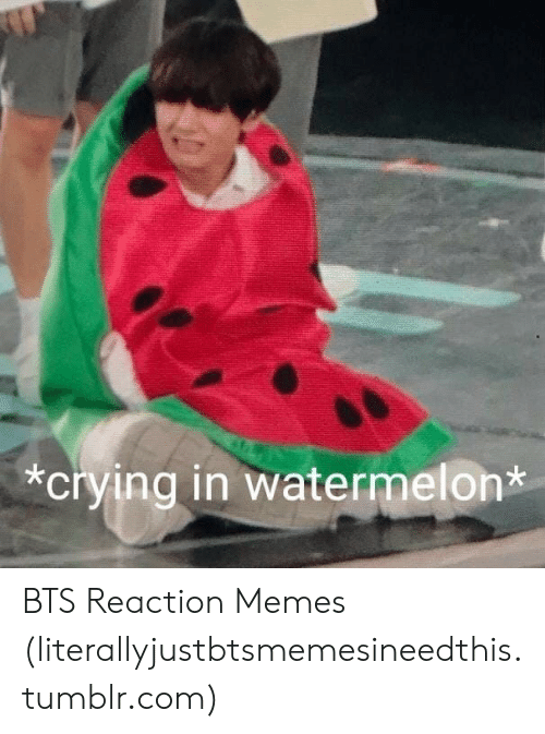 Bts Reaction Crying