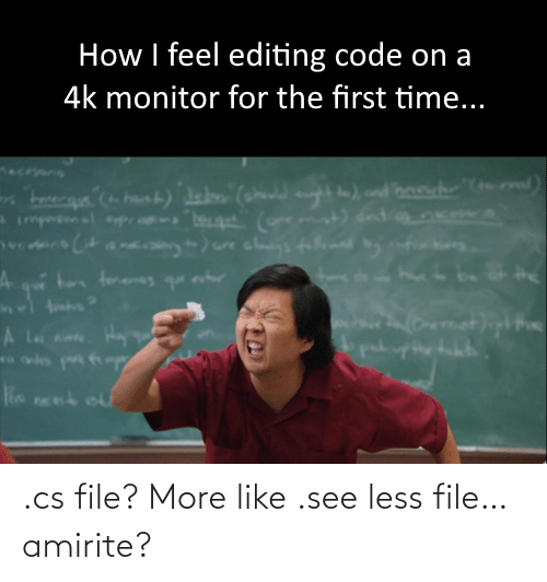 File: .cs file? More like .see less file… amirite?
