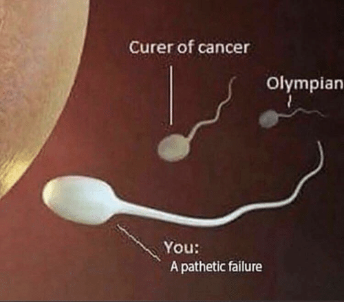 pathetic: Curer of cancer  Olympian  You:  A pathetic failure